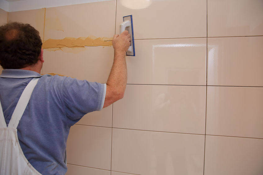 grouting bathroom